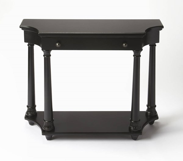 Masterpiece Hobson Black Licorice Rubberwood MDF Console Table BSF-2206111