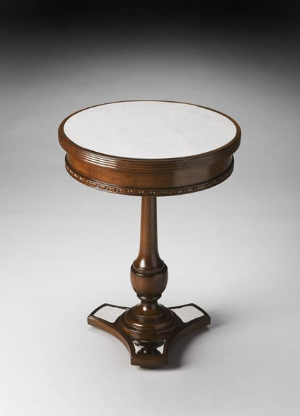 Masterpiece Adele Dark Brown Mahogany Mirror MDF Poplar Accent Table bsf-2217299