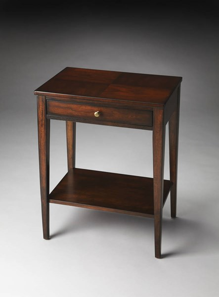 Plantation Cherry Cobble Hill Dark Brown Hardwood MDF Console Table BSF-2251024