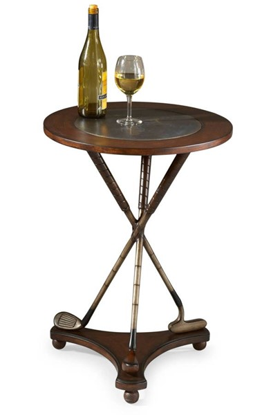 Butler Specialty Heritage Brass Insert Top Accent Table BSF-2302070