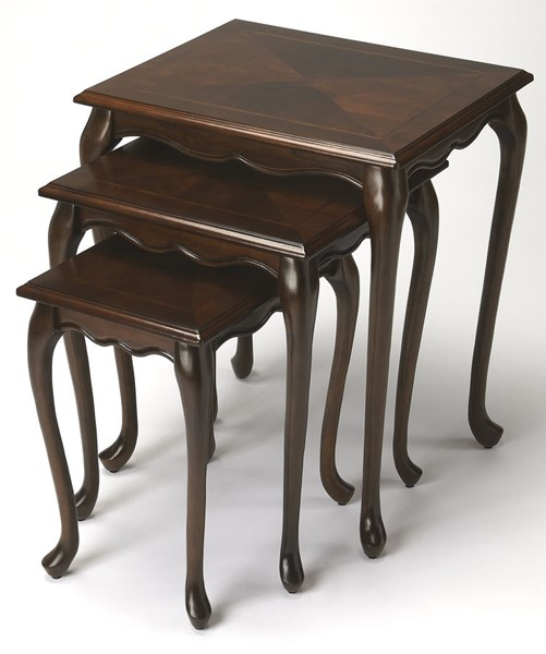 Butler Specialty Plantation Cherry Thatcher Nest Of Tables BSF-2306024