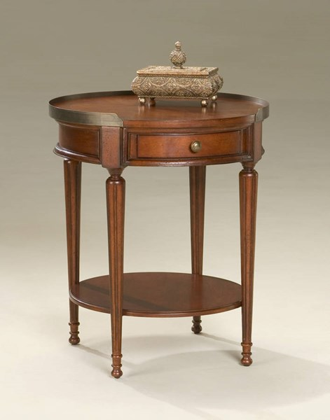 Plantation Cherry Sampson Dark Brown Transitional Accent Table BSF-2311024
