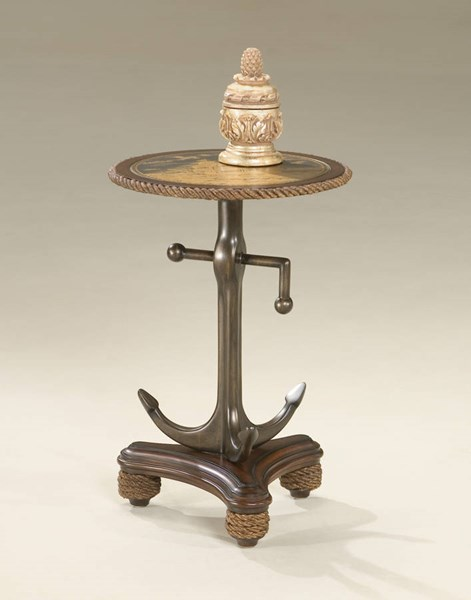 Heritage Transitional Etched Brass Anchor Table BSF-2326070