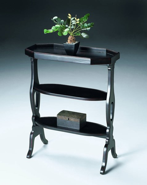 Artists Originals Hadley Transitional Plum Black Accent Table BSF-2330136
