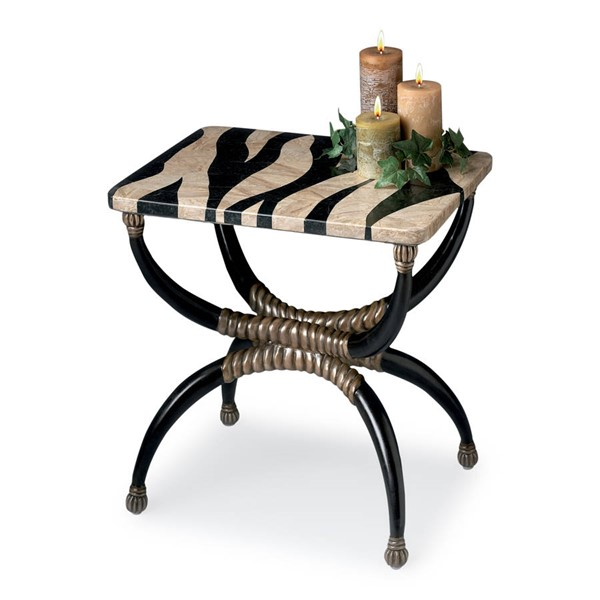 Butler Specialty Heritage Zebra Stone Top Accent Table BSF-2343070