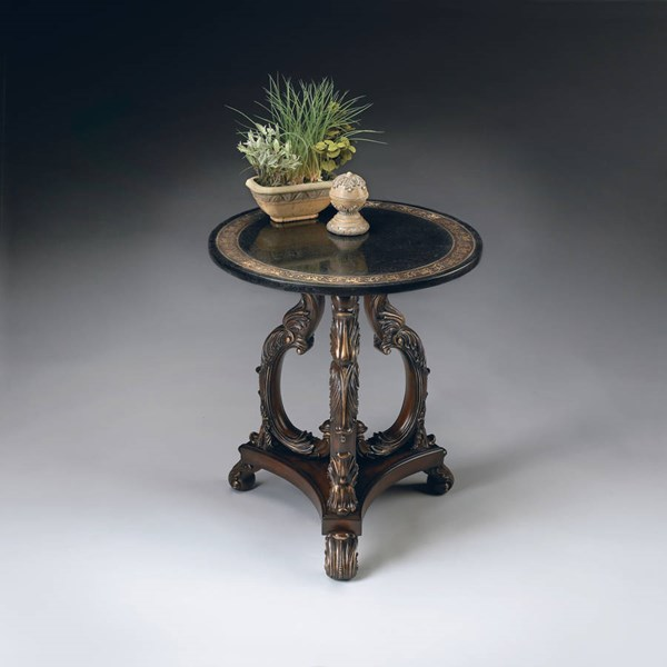 Heritage Traditional Fossil Stone Accent Table bsf-2347070