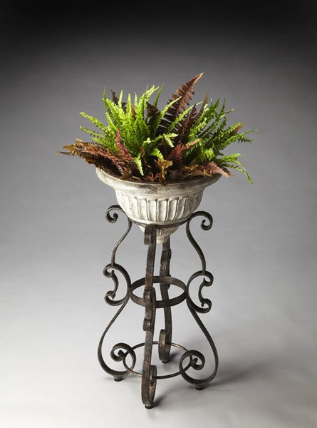 Metalworks Traditional Metal Base Stone Cast Bowl Planter bsf-2350025