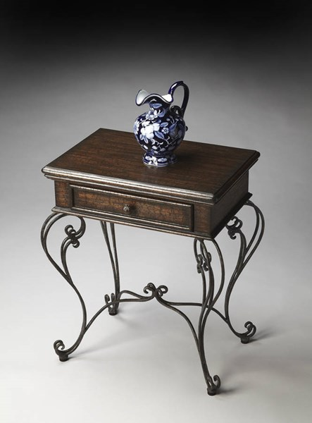 Metalworks Traditional Swirl & Twirl Metal Base Accent Table bsf-2356025