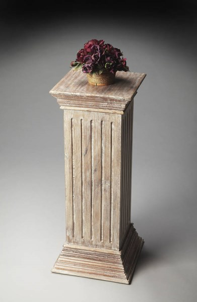 Artifacts Traditional Gray Solid Wood Stair-Step Base Pedestal BSF-2379290