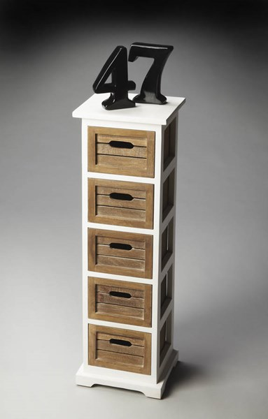 Modern Expressions Transitional Solid Wood Storage Pedestal BSF-2381260