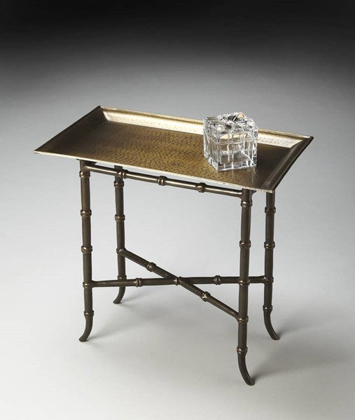 Metalworks Transitional Bronze Aluminum Tray Table BSF-2399025