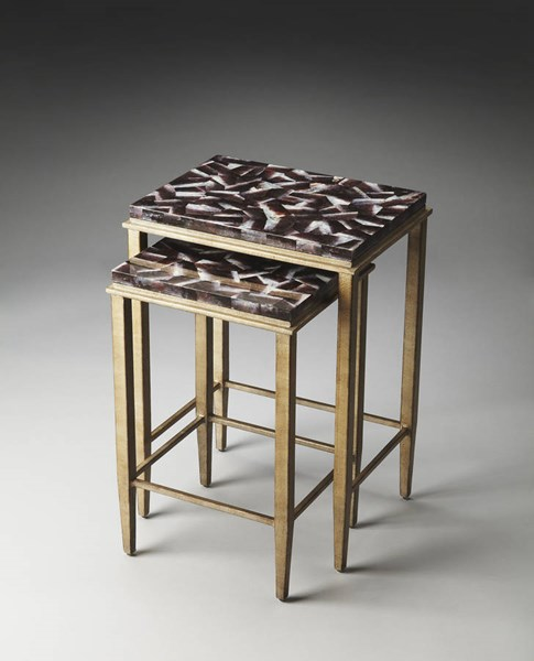 Metalworks Mateo Transitional Metal Plywood Nesting Tables bsf-2522025