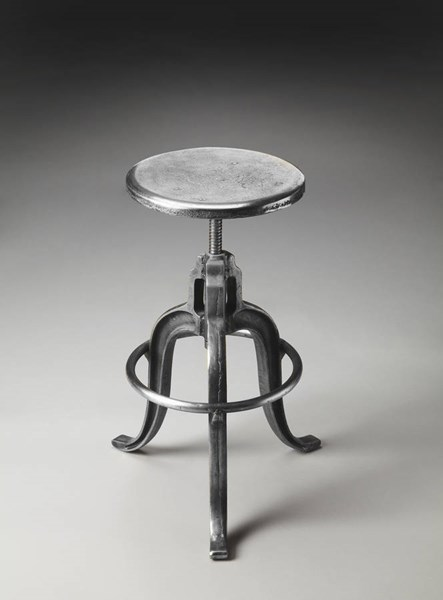 Industrial Chic Parnell Transitional Silver Iron Steel Iron Bar Stool BSF-2542025