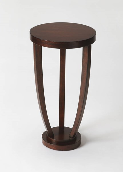 Plantation Cherry Tidewater Transitional Hardwood MDF Accent Table BSF-2602024