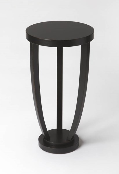Masterpiece Tidewater Black Licorice Wood MDF Resin Accent Table BSF-2602111