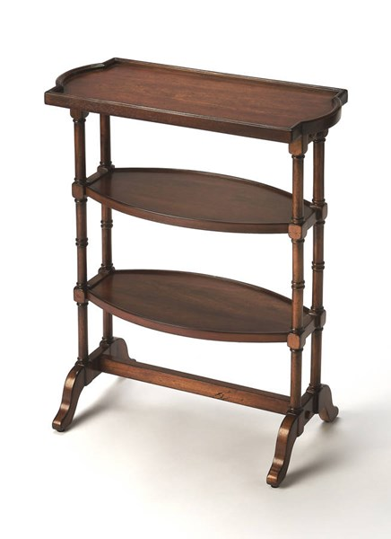 Masterpiece Anton Traditional Brown Cherry Rubberwood MDF Side Table bsf-2608011
