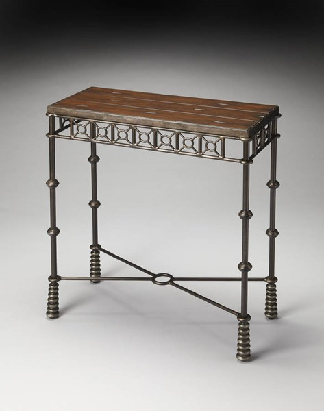 Metalworks Glendale Transitional Mahogany Wood Iron Console Table bsf-2644025
