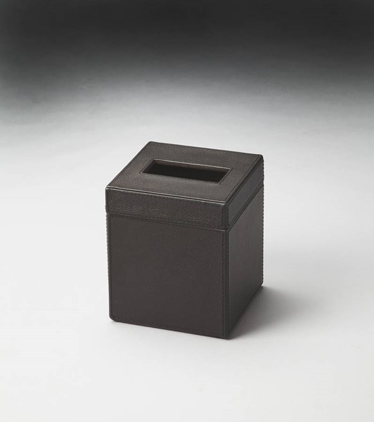 Hors D Oeuvres Lido Modern Brown Leather Polysuede Tissue Box bsf-2734034