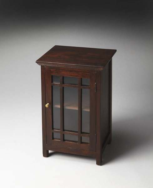 Artifacts Baxter Transitional Dark Brown Wood MDF Chairside Table BSF-2771290