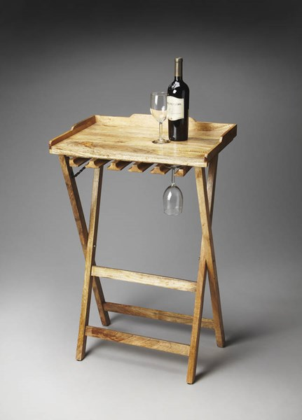 Artifacts Highland Transitional Natural Solid Wood Folding Wine Rack bsf-2775290