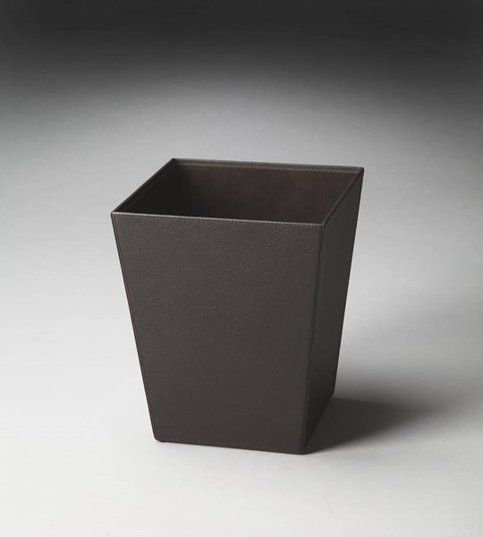Hors D Oeuvres Lido Modern Brown Leather Polysuede Storage Basket bsf-2777034