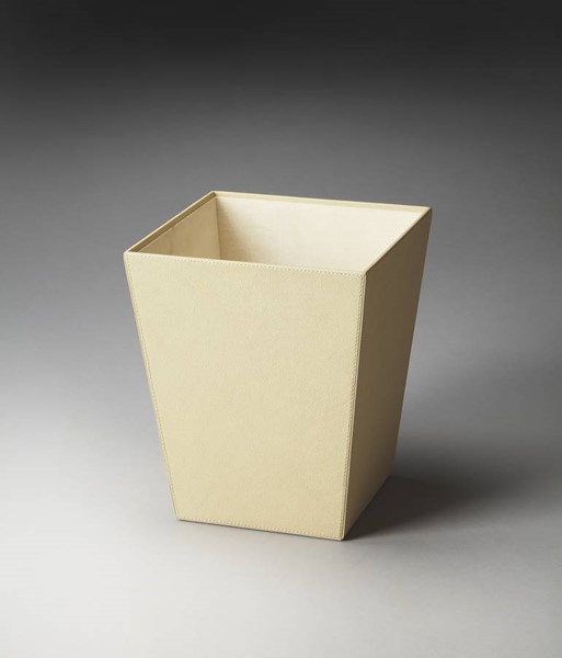 Hors D Oeuvres Lido Modern Beige Tone Leather Polysuede Storage Basket BSF-2777287