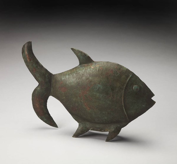 Hors D Oeuvres Reef Dwelling Transitional Green Iron Fish Figurine bsf-2811016