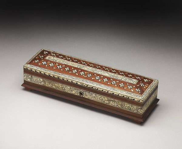Hors D Oeuvres Agra Traditional Bone Inlay Solid Wood Storage Box BSF-2820016