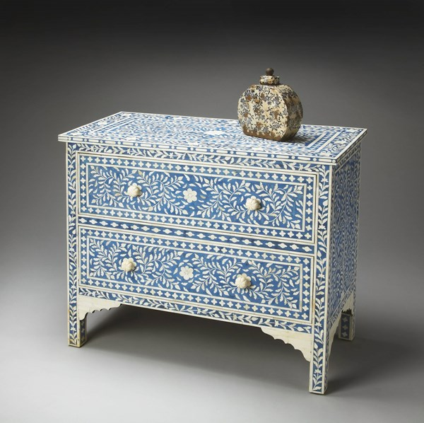 Bone Inlay Vivienne Traditional Inlay Solid Wood MDF Chests BSF-2851-DC-VAR
