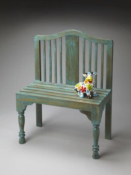 Heritage Roseland Transitional Blue Solid Wood Bench BSF-2853070