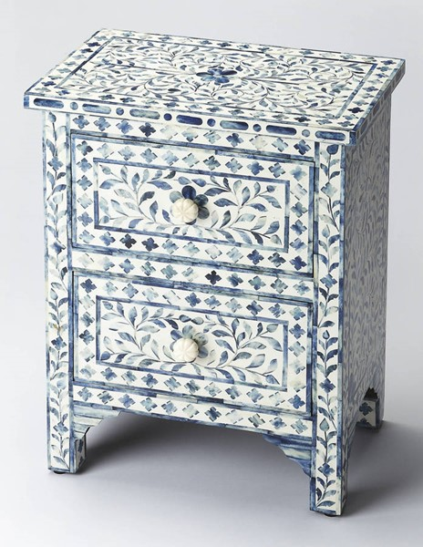 Butler Specialty Bone Inlay Vivienne Blue Accent Chest BSF-2865319