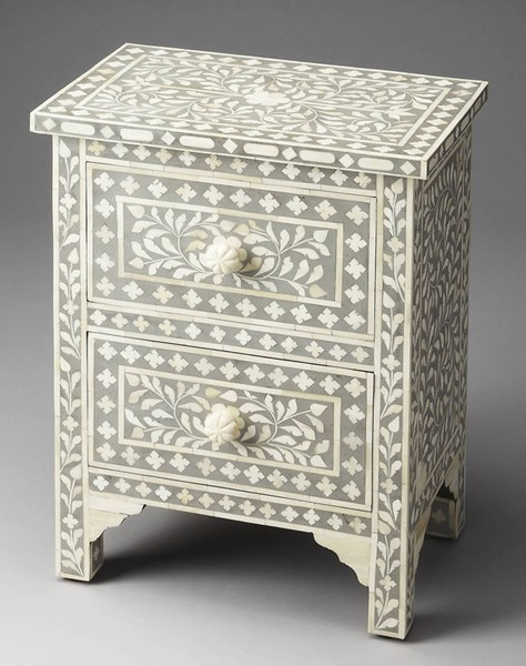 Butler Specialty Bone Inlay Vivienne Gray Accent Chest BSF-2865321