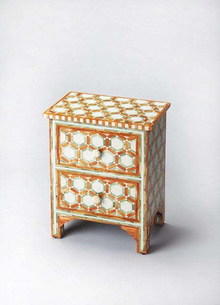Bone Inlay Vivienne Inlay Solid Wood MDF Resin Accent Chests BSF-2865-DC-VAR1