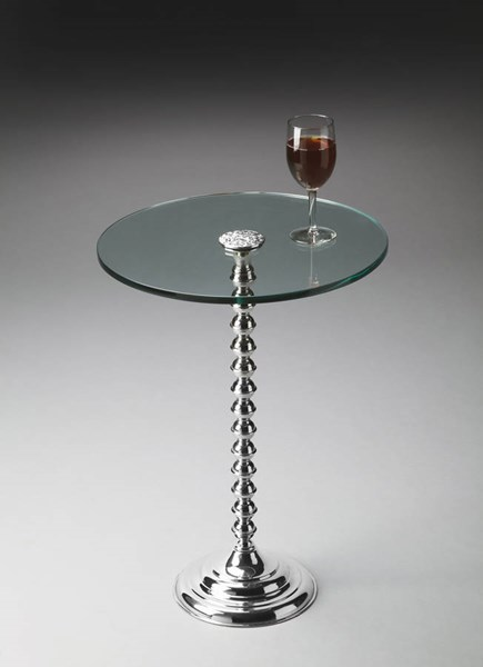 Modern Expressions Transitional Silver Pedestal Table BSF-2875220