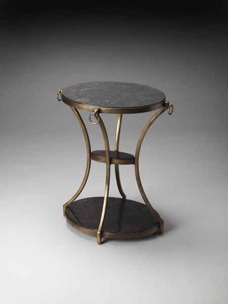 Metalworks Transitional Iron Oval Accent Table bsf-2879025
