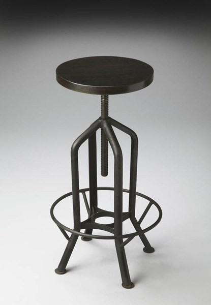 Industrial Chic Modern Black Revolving Bar Stool bsf-2883025
