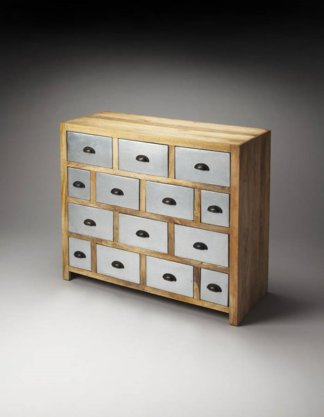 Industrial Chic Modern Solid Wood Zinc Drawer Chest bsf-2886330