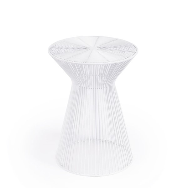 Butler Specialty Industrial Chic Greeley White Silver End Tables BSF-2896-ET-VAR