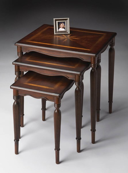 Plantation Cherry Winifred Traditional Dark Brown Nest Of Tables BSF-3021024