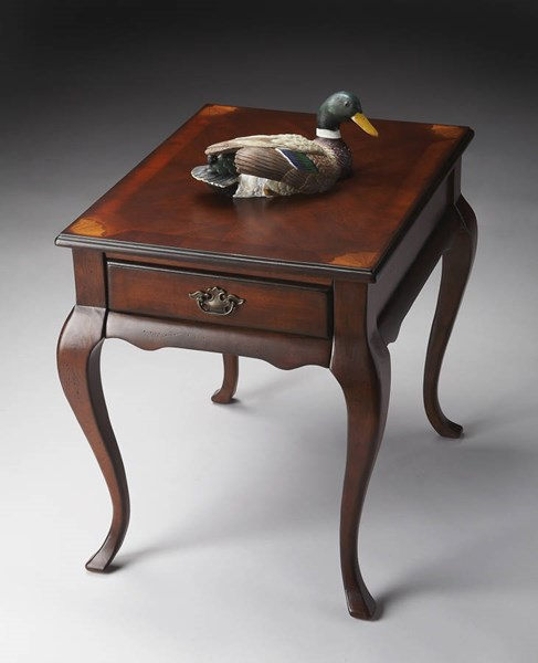Plantation Cherry Grace Traditional Dark Brown End Table BSF-3022024