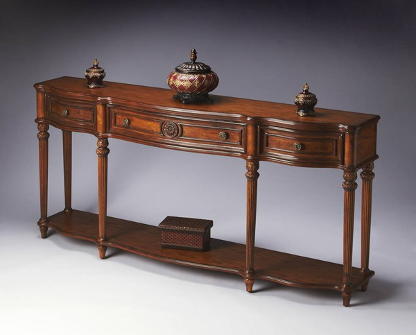 Masterpiece Peyton Traditional Vintage Oak Solid Wood Console Table bsf-3028001
