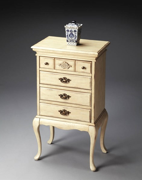 Masterpiece Grace Traditional Parrafin Beige Jewelry Chest BSF-3030249