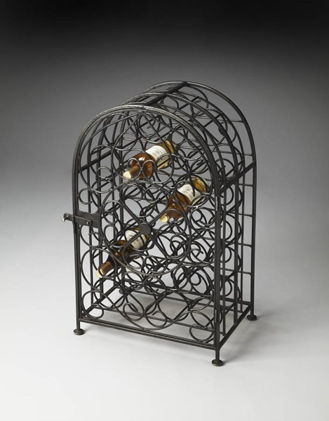 Industrial Chic Clybourn Transitional Black Iron Wine Rack BSF-3119025