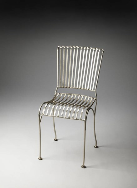 Industrial Chic Bingham Transitional Silver Iron Side Chair bsf-3133025