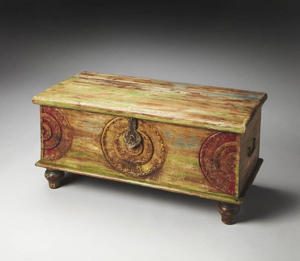 Artifacts Mesa Transitional Assorted Wood Trunk Cocktail Table BSF-3140290