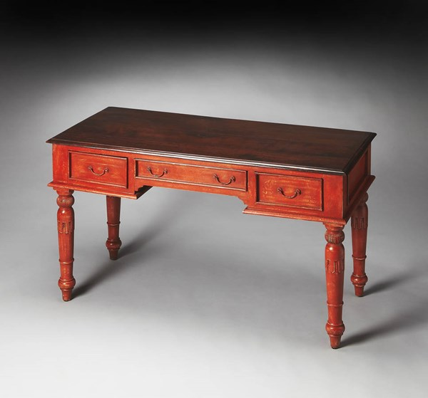 Artifacts Persimmon Traditional Red Wood Writing Desk bsf-3155290
