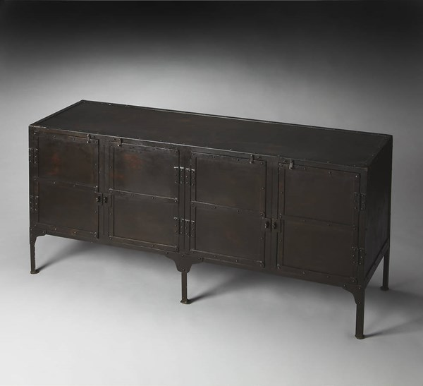 Industrial Chic Owen Modern Black Iron Console Cabinet BSF-3164025