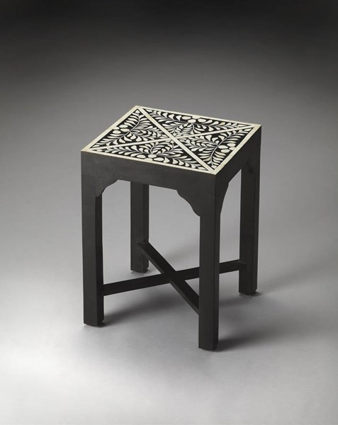 Bone Inlay Gianna Traditional Black Inlay Wood MDF Bunching Table BSF-3208070