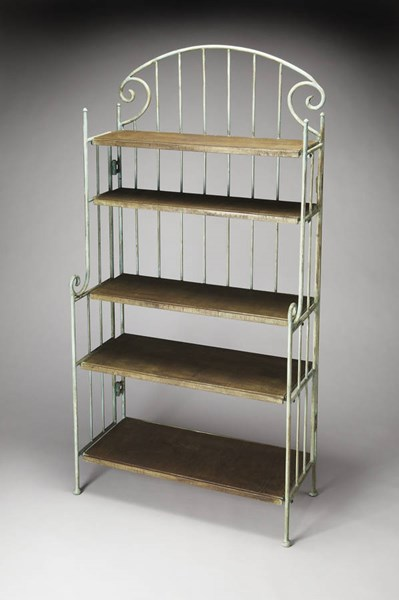 Metalworks Forsyth Transitional Iron Acacia Wood Baker Rack BSF-3250025