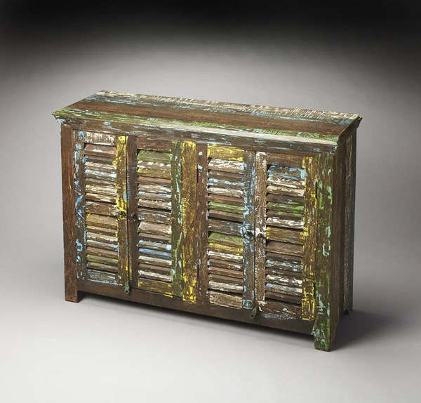 Artifacts Haveli Transitional Solid Wood Stainless Steel Sideboard bsf-3256290